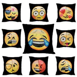 Doppio Colore Emoji Paillettes Pillow Case Cacca Federa Emoji Sirena Cuscino Federe Cuscini Casa Divano Auto Decorazione Cuscino Regali 40 * 40 cm SF42 da coperture all'ingrosso del sedile dell'automobile del fumetto fornitori