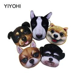 Vente en gros- YIYOHI New Cute Style nouveauté 3D animaux chat chien fermeture à glissière en peluche porte-monnaie Kawaii enfants porte-monnaie femmes portefeuille mini sac à main ? partir de fabricateur