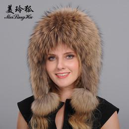 sombrero femenino ruso Rebajas Venta al por mayor- Sombreros de piel de  zorro genuinos de e34420daf8b