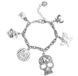 Wholesale Witch Bracelets - 2015 Hot fashion Halloween Pumpkin skull Witch Ghost Fashion Metal Bracelet best quality for gift free ship