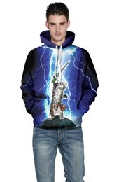 Wholesale East Hoodies - Wholesale-EAST KNITTING F1400 2015 Autumn Style Fashion Cute 3D Sweatshirt With Cartoon Printing For Men Brothers 3D pullovers Hoodies