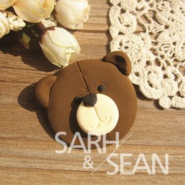 Wholesale Teddy Bear Chocolates - 3D M0093 lovely teddy bear face cake molds soap chocolate mould for the kitchen baking DIY cake tool kitchen tool