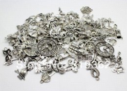 Wholesale Cheap Coin Jewelry - 100pcs Mixed Free Shipping 30-50 pattern silver tone Charms Alloy Pendant Jewelry Findings (10mm-25mm)(W02323x2) Charms Cheap Charms