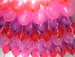 Wholesale Red Ballons - 10 inch 1.2gram Party Decoration Latex Ballons Thicken based pearlescent Wedding birthday Party Supplies Round festive balloon 100pcs lot