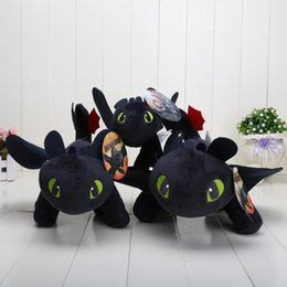 Wholesale Chose Doll - How to Train Your Dragon 40cm + 33cm + 22cm Toothless Night Fury Plush Doll Soft Stuffed Toy can choose size