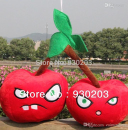 Wholesale Medium Size Plush Toys - Wholesale-Plants vs Zombies Plush Toy - Twin Cherry Bomb 20CM (Medium Size)