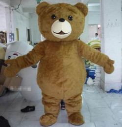 Wholesale Fast Shipping Costumes - 2018 Factory direct sale Teddy Bear Mascot Costume Cartoon Fancy Dress fast shipping Adult Size