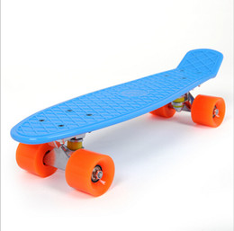 Wholesale 12 Decks - Wholesale-New Retro Classic Cruiser Style Skateboard Complete Deck Plastic Skate Board 12