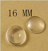 Wholesale 16mm Round Beads - 10mm 12mm 14mm 16mm Clear Round Glass Dome Cabochon Beads Fit Cameo Settings