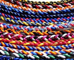 Wholesale Braided Sports Necklaces - DHL shipping 2015 New brand Baseball Sports Titanium 3 Rope Braided Sport GT Necklace 100 colors