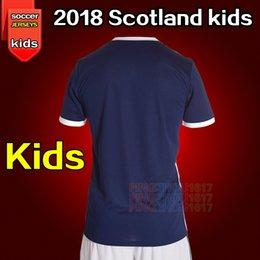Wholesale Wholesale White Uniform Shirts - Scotland Kids soccer Jerseys 2018 world cup kids jersey camiseta de futbol Scotland Football shirts McNAIR K.LAFFERTY DAVIS uniform kids