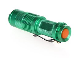 Wholesale Choice Travels - Flash Light 300LM CREE Q5 LED Camping Flashlight Torch Adjustable Focus Zoom waterproof flashlights Lamp 5 colors for choice