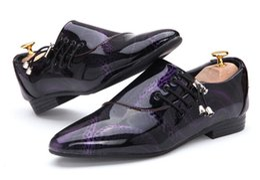 Wholesale Grooms Wedding Fashion - 2017 NEW Arrival Groom shoes Men's Fashion Shine leather shoes wedding dress shoes for men 5color ENPX110