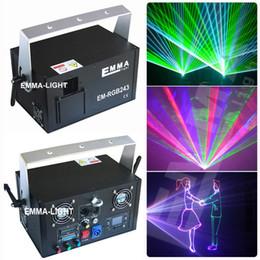 Wholesale Animation Mini Stage - Wholesale- 2000mW RGB animation effect Mini laser light Wedding dj disco party lights dmx laser stage lighting