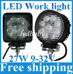 Wholesale Marine Flood Lights - CREE LED Work light bar Car Spot Flood beam 4X4 27W 9X3 MARINE JEEP boat curved Off road Fog Driving led light bar