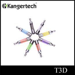 Wholesale Dual Coils Cartomizer - Original Kangertech T3D Clearomizer Kanger T3D Colorful Cartomizer Kanger T3D Atomizer With Changeable Rebuidable Dual Coils
