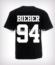 Wholesale Rock Fashion Boy - Wholesale-2015 Fashion Justin Bieber T Shirt band boy t shirt rock hip hop short sleeve Name and age T-shirt For Custom t-shirts