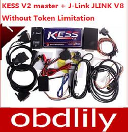 Wholesale Honda Tuning Kit - KESS V2 Master V2.10 OBD2 Tuning Kit Kess Ecu Tuning Tool + J-Link V8 Without Token Limitation No Checksum Error