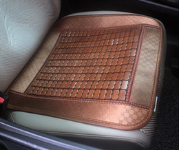 Wholesale Car Seat Cushions Brown - Retro Square Bamboo Cushions Summer Must-Cool Car Mats Refreshing Hot Little Box Car Seat The Summer Home Of Bamboo Block Cushions 01-12A