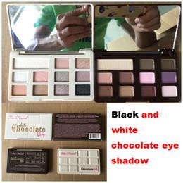 Sombra de olho preto on-line-Sombra de olho de chocolate preto branco também faCE paleta da sombra de olho sombra também enfrentar 11 cores Peaches Sombra de olho Maquiagem Cosméticos