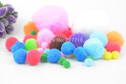Wholesale Craft Pompoms - 8mm-60mm Color Multicolor soft fluffy pom pom ball   pompoms DIY Art Craft Materials for Creative Kids Early Educational
