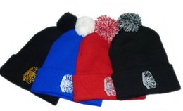 Wholesale King Beanies Black - Wholesale-2015 new Last Kings beanie with a Pom, Winter Warm popular beanies hats for men and women,4 colors to select + free shipping