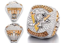 Wholesale Real Rings - The Newest Real 2017 Pittsburgh Penguins Hockey Stanley Cup championship ring With Men Gift Shipping AAA+