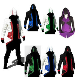 Wholesale Hot Assassins Creed Costume - Hot Sale Assassins Creed 3 III Conner Kenway Hoodie Coat Jacket Cosplay Costume