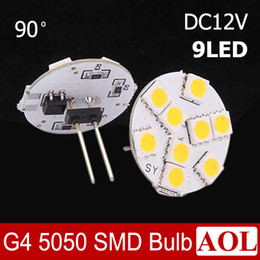 Wholesale High Intensity White Led Bulb - 3W G4 5050 SMD 9 LED Marine Camper Car Bulb Lamp 90 or 180 Degree Choice DC12V White Warm white Light High Intensity spotlight