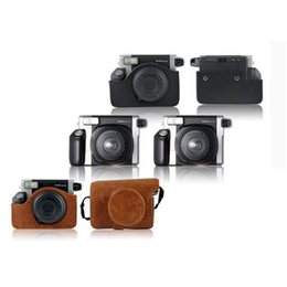 Wholesale Leather Bags For Cameras - Leather Camera Case Bag For Fujifilm Polaroid Instax W300 WIDE 300