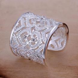 Wholesale Vintage Sterling Silver Heart Ring - Vintage Ring 925 Sterling Silver Ring Fashion Inlaid Zircon Multi Heart Ring Women&Men Gift Silver Jewelry Finger Rings R106