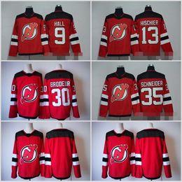 Wholesale Flash 13 - 2018 New Jersey Devils 9 Taylor Hall 30 Martin Brodeur 35 Cory Schneider 13 Nico Hischier 6 Andy Greene 14 Adam Henrique Red Hockey Jerseys