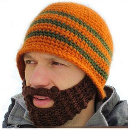 Wholesale Face Golf - Full Beard Beanie Mustache Mask Face Warmer Ski Winter Hat Cap Gift Adult Unisex warmly hats Creative design new hot sale Drop Shipping