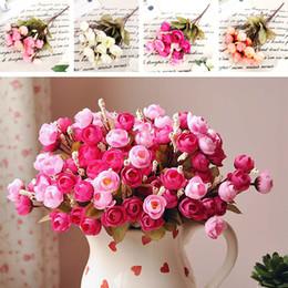 Deutschland Künstliche rote Rose Frühlingsblumen 18 Blütenköpfe Kamelie Magnolia Blumen Hochzeit Pfingstrose Arrangement Bouquet Decor cheap red wedding flower arrangements Versorgung