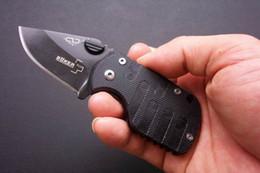 Wholesale Boker Pig - Free shipping Boker QQ Black Pig Hunting Folding Pocket Mini knife 55HRC 420 Tactical Best Gift