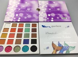 Wholesale Matte Color Eyeshadow Palette - Glamierre Glitter makeup palette eyeshadow 25 color set makeup Matte Shimmer Mermaid eye shadow Palette cosmetics 1 pcs Christmas gift