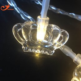 Wholesale Vintage Green Lamps - Wholesale- NEW Vintage 10 LED Lights String Princess Crown Luxury Twinkle Fairy Garland Festival Party PVC Wire Colorful Bulb Lamp Decor