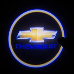 Wholesale Logo Chevrolet Cruze - free shipping 2 X 4th Gen LED car door Ghost Shadow laser projector logo light for Chevrolet Car 3D Welcome Light Door Courtesy Laser