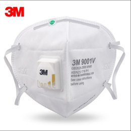 Wholesale Ear Loops - 3M Cool Flow Face Mask Folded Dust Mist Repirator Loop Ear Mouth Mask Head Wear 9001v 9002V 25pcs Lot MZ016