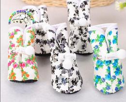 CA912 Articoli per animali Scarpe per cani Impermeabile Antiscivolo Stampa Stivali da pioggia Per cani Cani Scarpe per cani di piccola taglia da