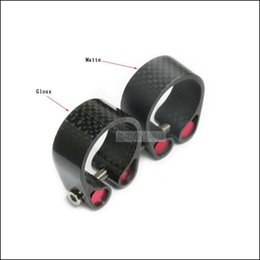 Wholesale Top Seatpost Seat Clamp - Top carbon fiber road bike seatpost clamp lock the seat tube clamp retaining clips carbon bicycle seat post tube clip Bicycle Accessories