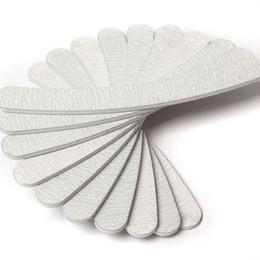 Wholesale Grey Nail Files - 10 x Grey Nail Files Sanding 100 180 Curve Banana for Nail Art Tips Manicure ZH223