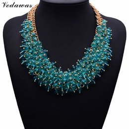 Wholesale Chunky Chain Collar - Wholesale- 2017 NEW Hot Sale Z Fashion Necklace XG134 Collar Bib Necklaces & Pendants Chunky Crystal Statement Necklace Jewelry For Women