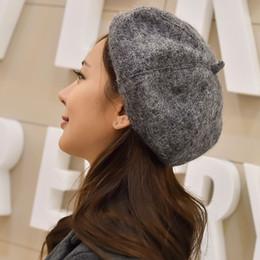 Wholesale Ladies Newsboy Hats Grey - Wholesale-Package mail lady newsboy painter British cloth cap restoring ancient ways of 2015 autumn winters berea octagonal hat
