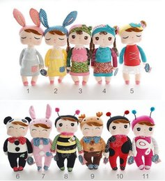 Wholesale Large Stuffed Animal Toys - 30cm Angela Lovely Stuffed Cloth Metoo Rabbit Doll Christmas Girl Children Gift Kids Pig Plush Rilakkuma Toys S15 Beanie Boos Large Bear