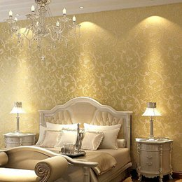 Wholesale Embossing Wallpaper - Environmental Protect Embossing 3D Non-woven Wallpaper Pastoral Sprinkle Silver Living room Bedroom TV Backdrop Wall Paper Mural