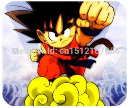 Wholesale Mouse Pad Ball - Wholesale-Funny Anime Dragon Ball Goku Skin Print on 180x220mm Anti-slip Durable Mouse Pad Mat for Laptop Computer Tablet PC