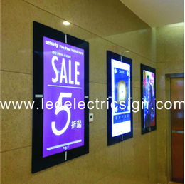 Wholesale Advertising Poster Display - Wall Mounted Aluminum Magnetic Frames for Posters Advertising Display with Light Box Aluminum Magnetic Frame Double Side Light Box