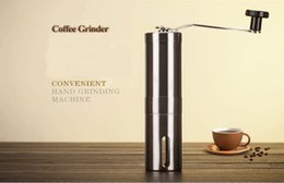 Wholesale Crank Boxes Wholesale - Manual Stainless Steel Hand Crank Design Coffee Grinder for Coffee Beans, Pepper and Spices Salt Pepper Mill