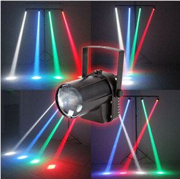 Wholesale Green Led Spot Lights - x10 newest RGBW single color Affect 5W LED Beam Spot Light white  red green blue Party DJ Bar Stage Light Pinspot Lights+ Effect Projector